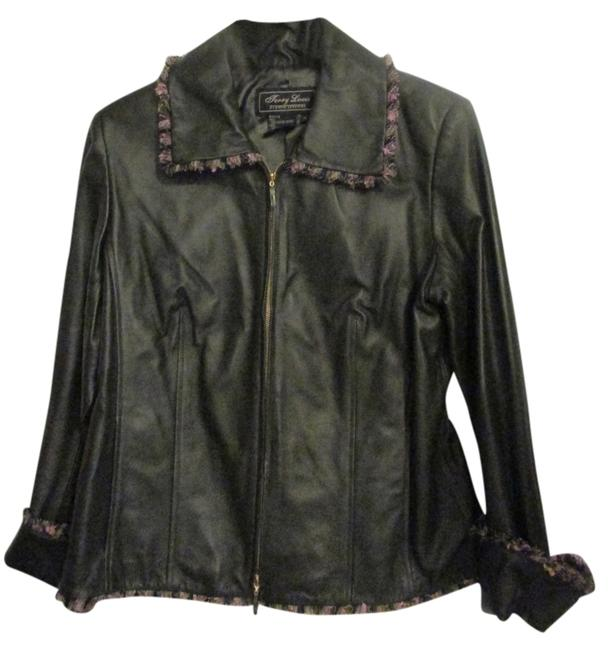 Terry Lewis Classic Luxuries Navy Leather Jacket Image 1
