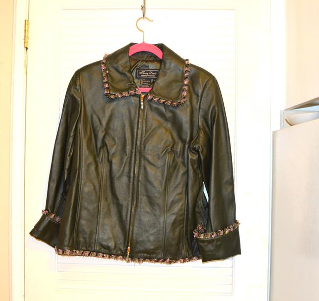 Terry Lewis Classic Luxuries Navy Leather Jacket Image 10