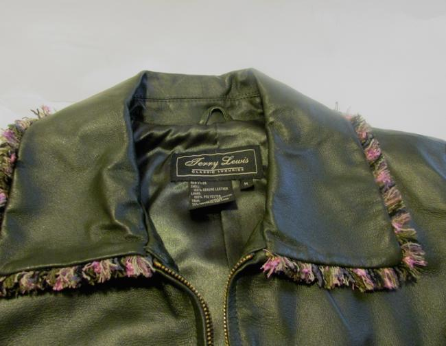 Terry Lewis Classic Luxuries Navy Leather Jacket Image 2