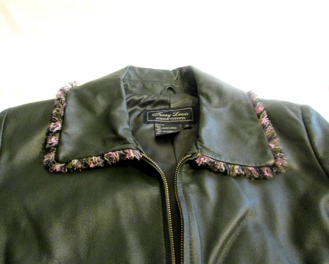 Terry Lewis Classic Luxuries Navy Leather Jacket Image 3