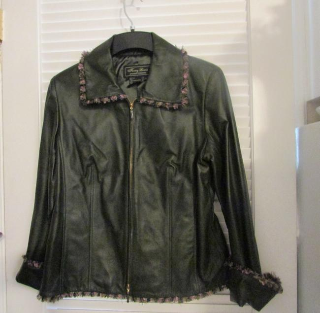 Terry Lewis Classic Luxuries Navy Leather Jacket Image 4