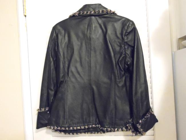 Terry Lewis Classic Luxuries Navy Leather Jacket Image 8