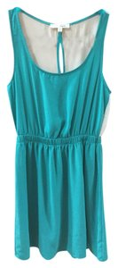 Lush short dress Green, Teal Summer Spring Beach Silk on Tradesy