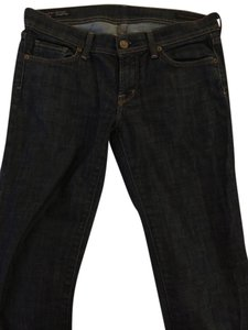 Citizens of Humanity Stretch Low Waist Straight Leg Jeans-Dark Rinse