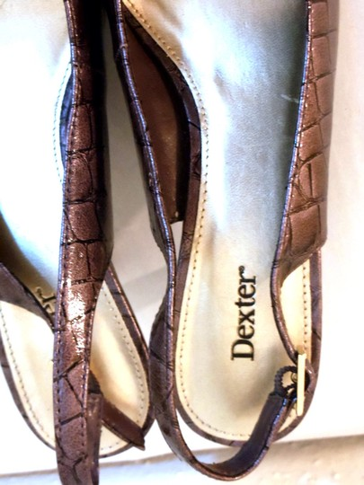 Dexter Croc Faux Leather Slingback Purple Pumps