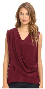 Nicole Miller Work Apparel Top Burgundy