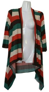 Other Draped Striped Retro Cardigan