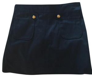 J. Madden Nautical Cotton Mini Mini Skirt Navy