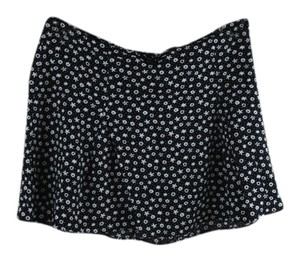 H&M Skater Sale Flowers 90s Skirt Black, White, Floral
