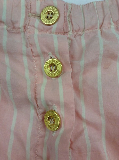 Chanel Silk Rare Shorts White and pink