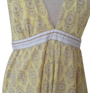 Free People short dress Pale yellow with print on Tradesy