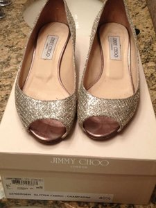 Jimmy Choo Champagne Wedges Size US 10.5