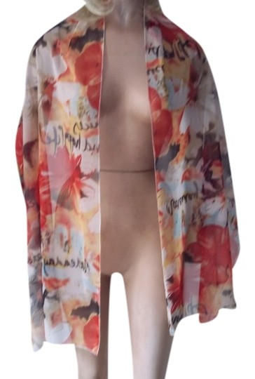 Other bright tropical flowered scarf