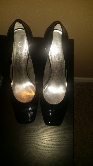 Jessica Simpson Black Patent Leather Pumps Image 1