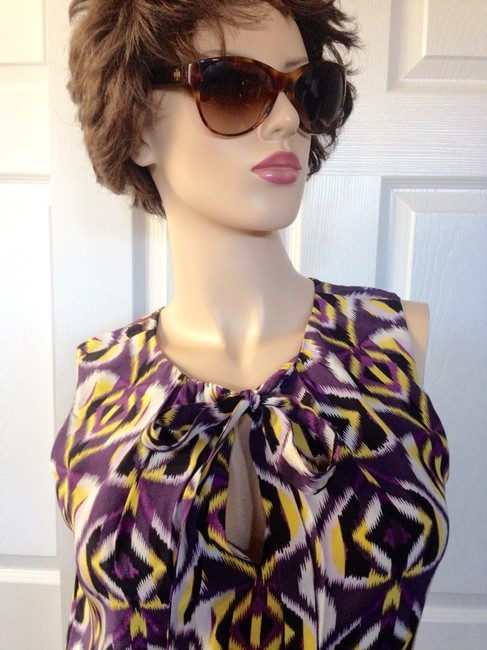 Tory Burch Top Purple/Yellow