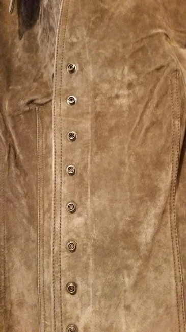 Coldwater Creek Suede Snaps Jacket Cardigan