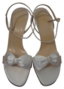 Kate Spade Ivory Monarch White Sandals