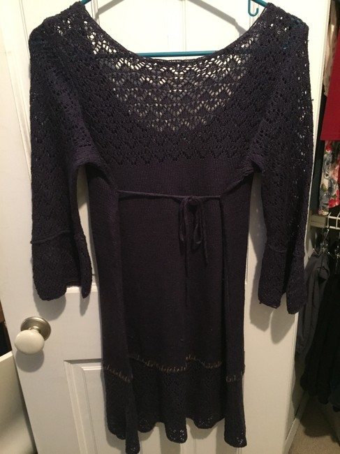 Free People short dress Plum / Purple 3/4th Sleeve Crochet on Tradesy