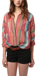 BDG Urban Outfitters Stripes Dolman Boxy Southwestern Button Down Shirt multi
