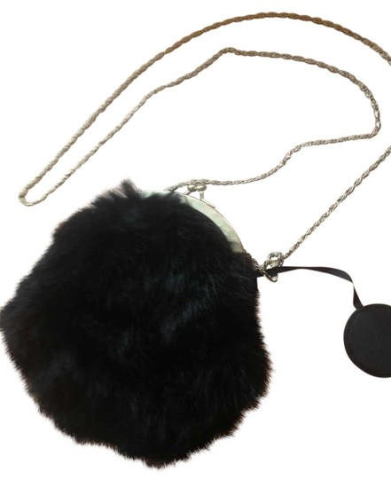 Preload https://item5.tradesy.com/images/circle-evening-purse-clutch-chain-black-rabbit-fur-cross-body-bag-334549-0-2.jpg?width=440&height=440