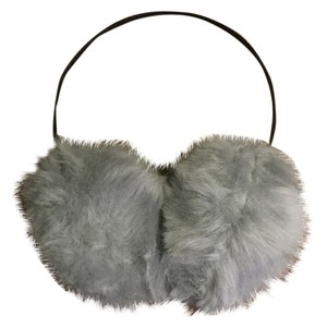 Nordstrom Nordstrom Heather Gray Puff Faux Fur Earmuffs