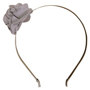 J.Crew J. Crew Heather Grey Flower Decal Headband