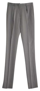 Burberry Straight Pants Pale Chalk Grey