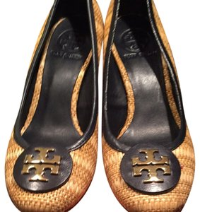 Tory Burch Bleach /Navy Wedges