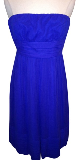 Preload https://item5.tradesy.com/images/jcrew-royal-blue-strapless-mid-length-cocktail-dress-size-2-xs-3345934-0-0.jpg?width=400&height=650
