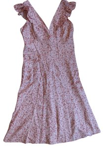 Marc Jacobs short dress Light Pink floral New With Tags Satin on Tradesy