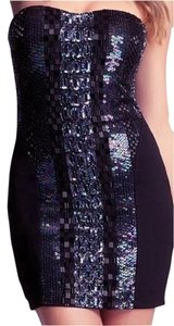 bebe Beaded Mini Strapless Dress