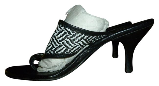 Item - Black and White Logo Sandals Size EU 37 (Approx. US 7) Wide (C, D)