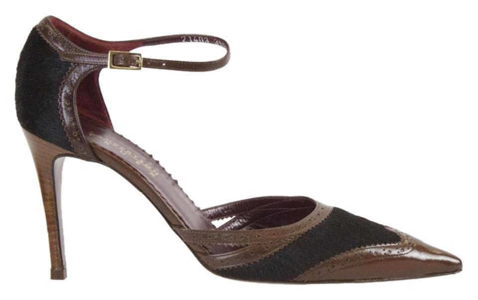 Lambertson Truex Brown Pony Hair/Leather Pumps Pumps Hair/Leather 477990