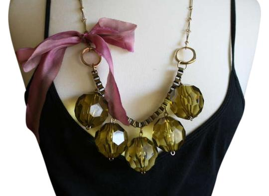 Preload https://item5.tradesy.com/images/anthropologie-green-pink-bauble-with-bow-necklace-334639-0-0.jpg?width=440&height=440