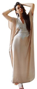 Beige Maxi Dress by Nightgown Coverup Cover Up