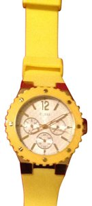 Guess Guess Yellow Silicone Watch