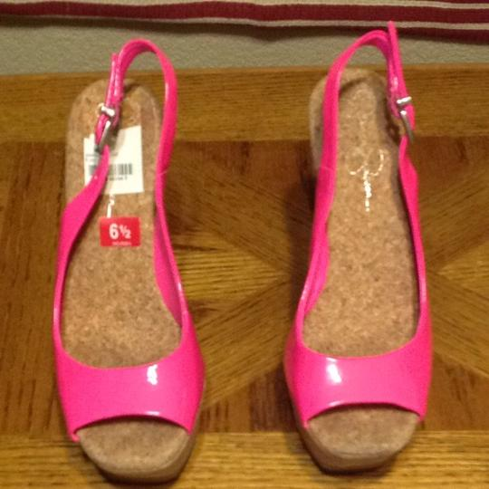 Jessica Simpson Bright Pink Wedges