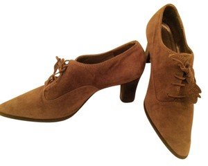 Bruno Magli Italian Leather Sole Soft Suede Pointed Toe Brown Boots
