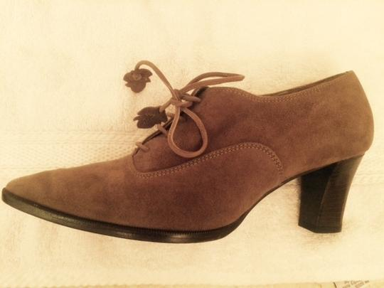 Bruno Magli Italian Leather Sole Soft Suede Pointed Toe Brown Boots Image 1