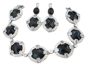 MONET MONET black onyx crystal bracelet and earrings set