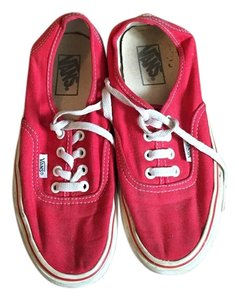 Vans Lace Up Red Athletic