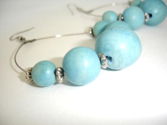 Other Turquoise color dangling hoop earrings
