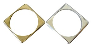 Nine West NINE WEST gold silver double square bracelet