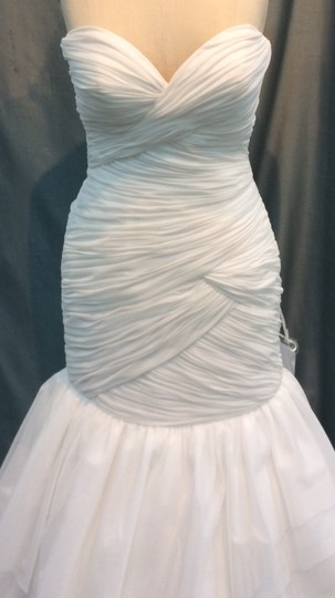 Stephen Yearick Off White Silk Chiffon Organza 13983 Formal Wedding Dress Size 8 (M)