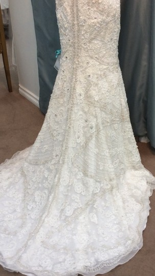 Stephen Yearick Off White Silk Lace The Best Of The Best. Rose New Modern Wedding Dress Size 10 (M)