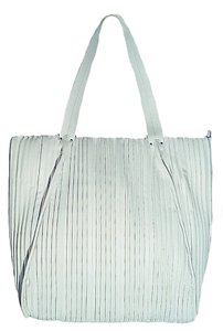 Calvin Klein Zippered Soft Tote in White