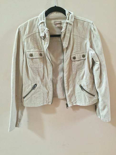 Forever 21 Moto Chic Feminine Summer Fall Corduroy Tan Jacket