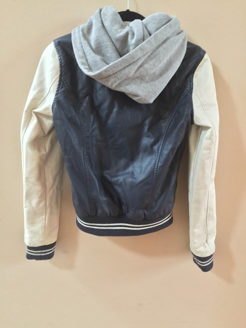 Other Obey Urban Outfitters Varsity Chic Stylish Blue, White, Grey Leather Jacket