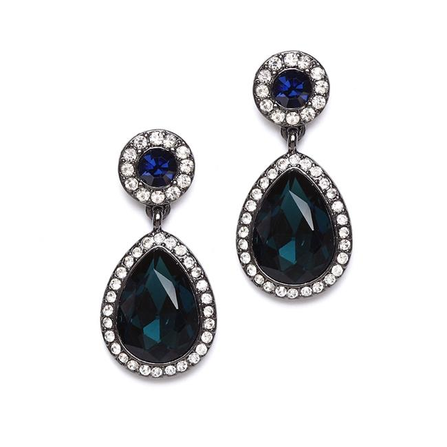 Item - Navy Blue Vintage Drop For Prom Or Bridesmaids 4293e-mn-hm Earrings