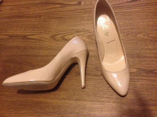 Butter Patent Leather Nude Pumps